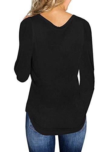 Maglioni Autunno Lunga T V shirts Jumper e ulein Fox Scollo Fr Casual Unita Primavera Maglieria Tinta Moda Pullover Donne Sottile Manica Sweater vIgOwqR