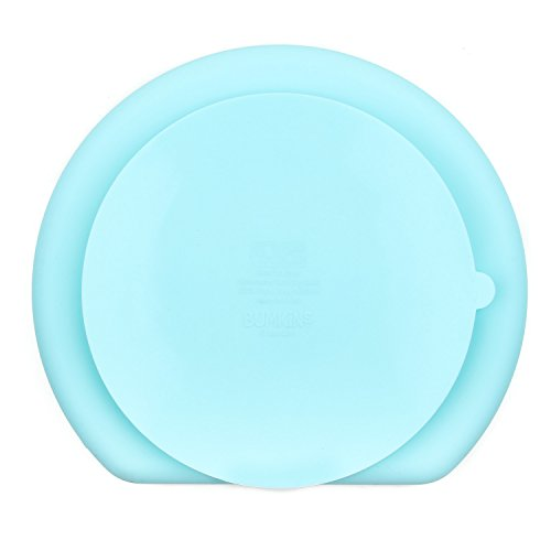 Bumkins Suction Silicone Baby & Kid Grip Dish, Blue by Bumkins (Image #4)