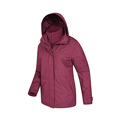 Mountain Warehouse Fell Womens 3 in 1 Jacket -Water Resistant Rain Jacket, Adjustable Hood Ladies Winter Triclimate… 3