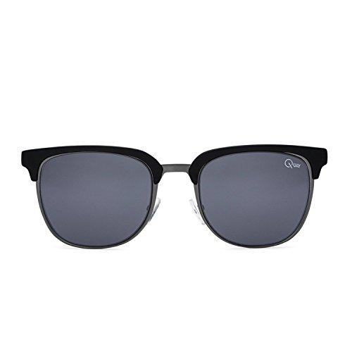 Quay Australia FLINT Men's Sunglasses Retro Accented Brow-Line - - Men Browline Sunglasses