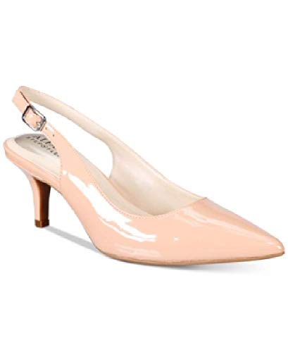 (Alfani Womens Babbsy Pointed Toe Slingback Classic Pumps, Blush, Size 9.0)