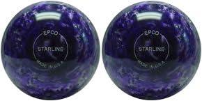 EPCO Duckpin Bowling Ball- Starline - Purple & Pearl - 2 Balls