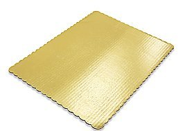 Cakesupplyshop Packaged 1/4 (Quarter) Sheet Cake 14inches X 10inches Gold Corrugated Cake Pads Cake Boards 6pack