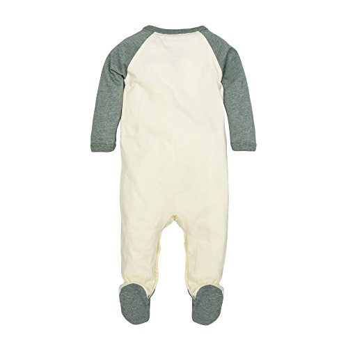 Burt's Bees Baby Baby Boys' Organic Long Sleeve Footed Coverall, Tree on the Patch, 0-3 Months