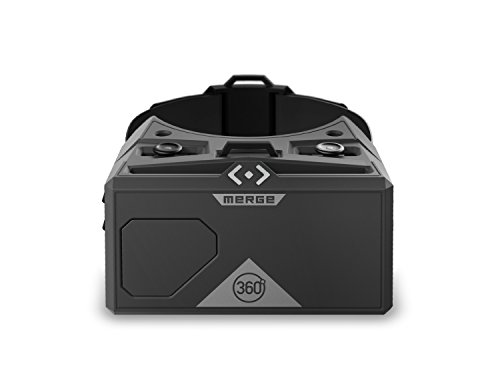Merge AR/VR Goggles - Augmented and Virtual Reality Headset, 300+ Family-Friendly Experiences, Works with iPhone or Android (Moon Grey)