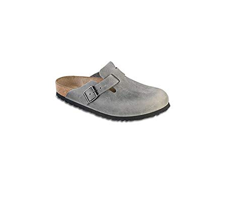 Birkenstock Unisex Boston Soft Footbed Iron Oiled Leather Cl