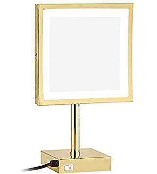 square vanity mirror with lights. GURUN 8 Inch Square Tabletop Swivel Vanity Mirror With LED Light 3x  Magnification Chrome Finish Amazon Com