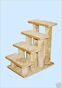 Beige 4 Steps Pet Dog Cat Step Stairs, My Pet Supplies