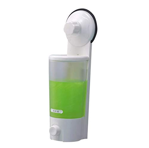 shuangqing Suction Cup Wall Mounted Single Lotion Dispensers Liquid Soap Dispenser ()