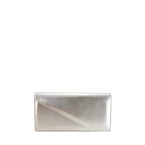 Women Bag Clutch GION Bora Evening Silver Leather w4PxFq