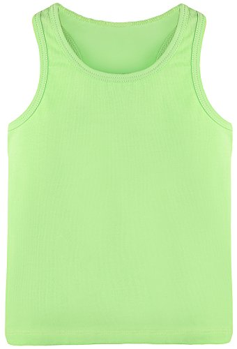 Lilax Girls' Racerback Tank Top 5T Apple Green (Apple Green Tank Top)