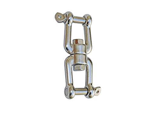 """Five Oceans Swivel Double Shackle 3/8"""" - BC 472"""