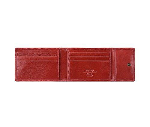WITTCHEN caso, Rosso, Dimensione: 11x8 cm - Materiale: Pelle di grano - 21-2-011-3