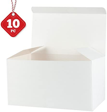 30.5X15.5X15.5 CM Birthdays Holidays Large Decorative Box with Lids For Christmas 10 Pack RUSPEPA Recycled Cardboard Gift Boxes White Weddings
