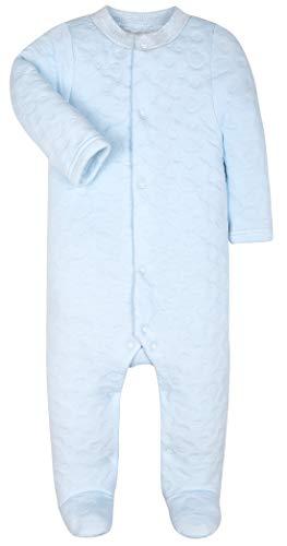 Baby Boys Girls Warm Long-Sleeve Footed Pajamas Sleeper Rompers(Blue Bear,12-18M)