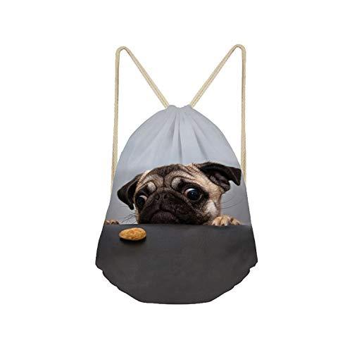 Bag Pug - Showudesigns Funny Pugs Dog Soft Cinch Gym Bags Organizer Fitness Drawstring Bag