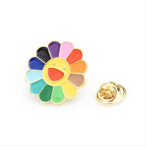 XZFCBH Multicolor Sun Flower Kragen Pins Frauen koreanische schöne Brosche Pins Geschenke