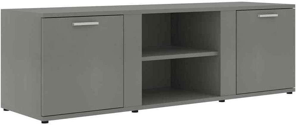 """TV Cabinet Gray 47.2"""" Chipboard TV Media Stand Unit Rack Tv stand Farmhouse decor Tv mount Television stands Tv stands Tv table Apartment essentials Living room furniture Tv & media furniture Tv stand"""