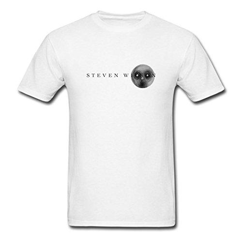 WBG DIY Mens Steven Wilson logo 2016 T-Shirt White XXL
