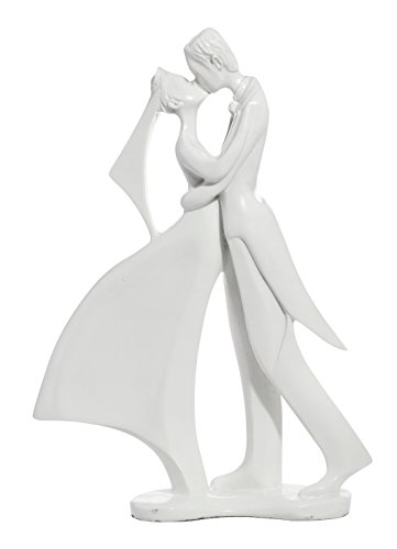 Decorative Ornamental Couple in Love Wedding Marriage White Figurine Resin Home Accessory- Wedding Centerpiece Décor