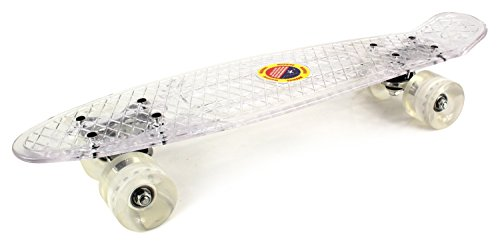 "Clear Street Cruiser Complete 22"" Banana Skateboard w/ 58mm"