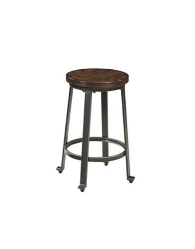 Ashley Furniture Signature Design Challiman Stool, Rustic Brown,