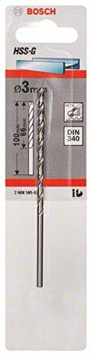 Bosch Professional Metallbohrer HSS-G geschliffen mit langer Arbeitsl/änge /Ø 3 mm