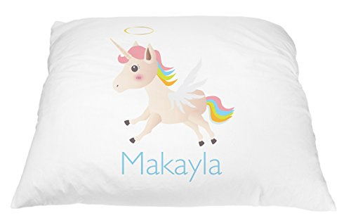 Personalized Kid's Unicorn Pillowcase Microfiber Polyester Standard 20 by 30 Inches, Custom Unicorn Pillow Cover, Personalized Pillow with Names, Personalized Gifts for Kids, Pillowcase for - Good For Names Unicorns
