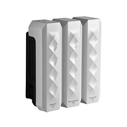 (Soap Dispenser Soap/Shampoo/Lotion Modular Design-Wall Mount – 1050ml/36oz - ABS Plastic - White 18039W-3)