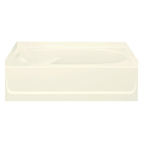 STERLING 71101120-96 Ensemble Bathtub, 60-Inch x 36-Inch x 16-Inch, Right-Hand, Biscuit