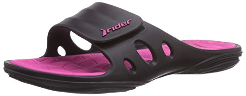 Rider Key Vii, Women's Mules Black - Schwarz (Black/Pink 23757)