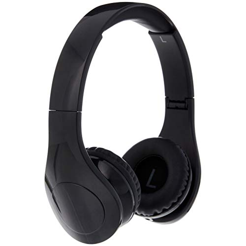 AmazonBasics Volume Limited Wired Kids Headphones with Two Ports for Sharing – Black