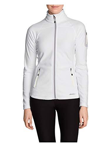 Eddie Bauer Women's Cloud Layer Pro Fleece Full-Zip Jacket, White Tall XXL