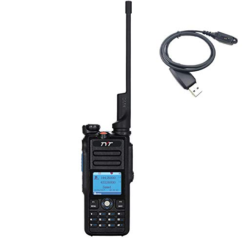 TYT MD-2017 Dual Band VHF/UHF DMR Handheld Two Way Radio IP67 Waterproof 5W Ham Radio TDMA Tier I/II ()