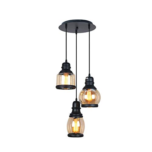 Pendant Lighting Colored Glass Shade