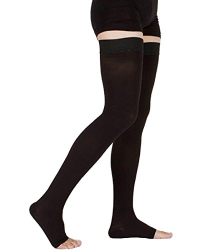 TOFLY Thigh High Compression Stockings, Opaque, Firm Support 20-30 mmHg Gradient...