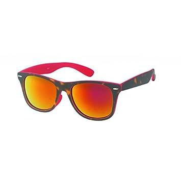 Chic-Net Nerd Sonnenbrille verspiegelt 400 UV seitlich transparent farbig Wayfarer grün xzGqQHk