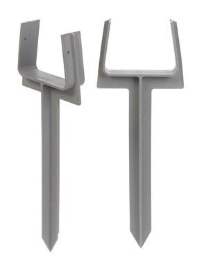 AMERIMAX HOME PRODUCTS 85210 Downspout Anchor, 2-Pack, Gray|White