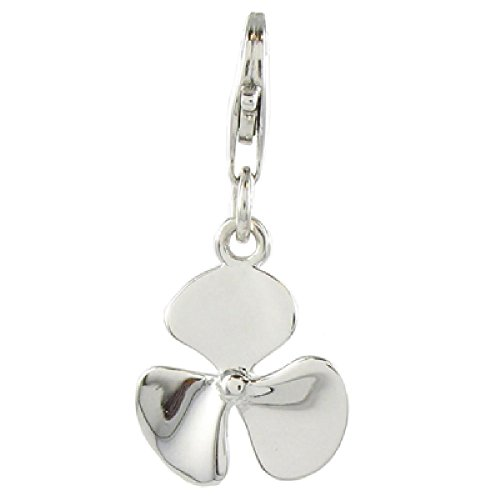 Quiges 925 Sterling Silver Ship Propeller Clip On Charm Pendant