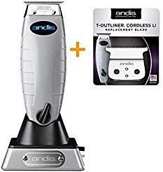 Andis Bundle Cordless T-Outliner Trimmer 74000 Plus Cordless T-Outliner Replacement Blade CL-04535 …