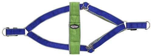 Doggles Step In Dog Harness, Blue/Green, Extra Small