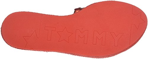 Tommy Hilfiger Women's Metallic Flat Mule Open Toe Sandals, Gold Red (Red Clay 630)