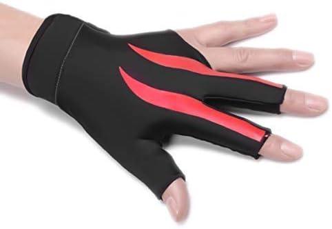 jiele - Guante elástico de Licra para 3 Dedos y Guante de Billar para Hombre y Mujer, elástico, con Tres Dedos, Rojo: Amazon.es: Deportes y aire libre
