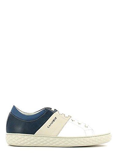 CAFè NOIR PF130 blu bianco scarpe uomo sheakers pelle lacci Bianco-nero-grigio