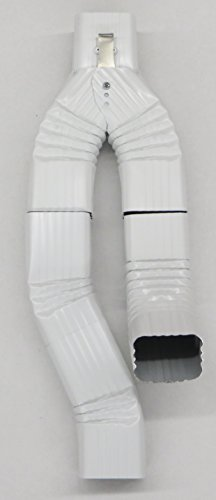 - Inline Downspout Diverter for Rain Barrels (2X3, LOW GLOSS WHITE)