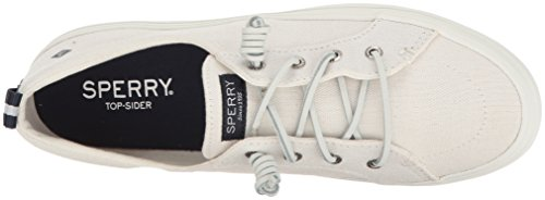 White Crest Blanco Linen Sperry Vibe Mujer para 10 Zapatillas 6fdx6Rqw0