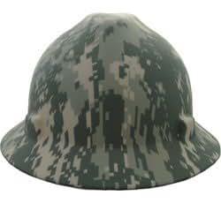 MSA V-gard Full Brim Camouflage Hard Hat with Ratchet Suspension