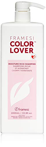 Framesi Color Lover Moisture Rich Shampoo - 33.8 Ounce, Moisturizing Shampoo, Sulfate Free and Color Safe Hydrating Shampoo, Vegan, Gluten Free, Cruelty Free