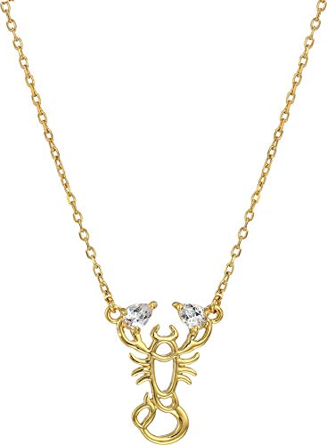Kate Spade New York Women's Celestial Charm Scorpio Pendant Necklace Clear/Gold One Size ()