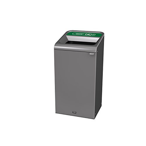 Rubbermaid Commercial Products 1961627 Configure Waste Receptacle, 23 gal, Organic Waste Trash Can, Grey Stenni by Rubbermaid Commercial Products